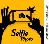 selfie phonein yellow. vector... | Shutterstock .eps vector #400563604