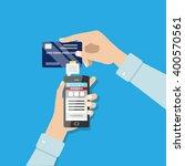 mobile payment illustration.... | Shutterstock .eps vector #400570561