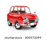 retro car red in 60s style... | Shutterstock . vector #400573399
