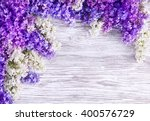 lilac flower background  blooms ... | Shutterstock . vector #400576729
