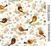 seamless pattern with birds and ... | Shutterstock .eps vector #400578031