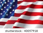vector american flag | Shutterstock .eps vector #40057918