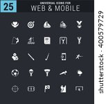 25 universal icon set. simple... | Shutterstock .eps vector #400579729