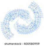 architectural plan in the form... | Shutterstock .eps vector #400580959