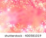 pink orange cherry greeting... | Shutterstock . vector #400581019