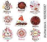 logo of the bakery  symbols.... | Shutterstock .eps vector #400582087
