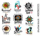 summer logo. modern summer... | Shutterstock .eps vector #400582321