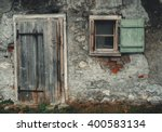 Old Vintage Barn Wall With...