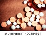 colorful medication and pills.... | Shutterstock . vector #400584994