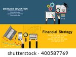 education and online courses ... | Shutterstock .eps vector #400587769