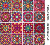 set of ethnic seamless pattern. ... | Shutterstock .eps vector #400589059