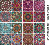 set of ethnic seamless pattern. ... | Shutterstock .eps vector #400589065