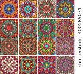 set of ethnic seamless pattern. ... | Shutterstock .eps vector #400589071