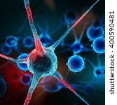neurons abstract background....   Shutterstock . vector #400590481