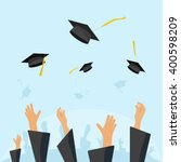 graduating students of pupil... | Shutterstock .eps vector #400598209