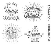 set of vector inspirational... | Shutterstock .eps vector #400599871