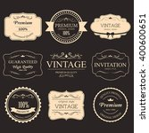 set of vintage label old... | Shutterstock .eps vector #400600651