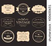 set of vintage label old... | Shutterstock .eps vector #400600651