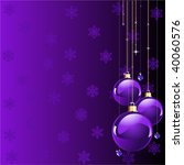 violet colors christmas and new ... | Shutterstock .eps vector #40060576