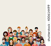 people in cinema vector... | Shutterstock .eps vector #400614499