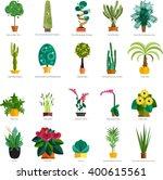 Vector Set Of Indoor Plants In...