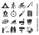 adventure icon set | Shutterstock .eps vector #400619665