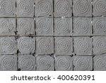 old dark gray decorated... | Shutterstock . vector #400620391