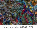 colorful old yarn thrown in a... | Shutterstock . vector #400621024