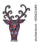 giraffe. zentangle style... | Shutterstock .eps vector #400621684