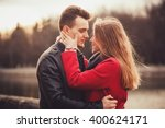 portrait of a young couple in... | Shutterstock . vector #400624171