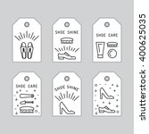 set icons items for shoe care.... | Shutterstock .eps vector #400625035