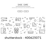 set icons items for shoe care.... | Shutterstock .eps vector #400625071