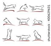 cat set. vector | Shutterstock .eps vector #400629631