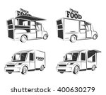 food trucks. vintage vector... | Shutterstock .eps vector #400630279
