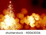 abstract christmas tree on a... | Shutterstock . vector #40063036