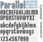 parallel black and white font... | Shutterstock .eps vector #400630471