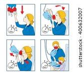 instructions for using an... | Shutterstock .eps vector #400632007