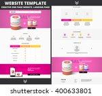 website template design for... | Shutterstock .eps vector #400633801