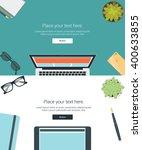 vector set top view of modern... | Shutterstock .eps vector #400633855