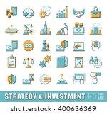 set of premium quality flat... | Shutterstock .eps vector #400636369