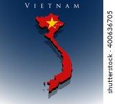 vector 3d vietnam map with a... | Shutterstock .eps vector #400636705