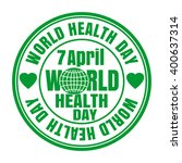 health day card. april 7. green ... | Shutterstock .eps vector #400637314