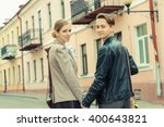 stylish young hipster couple... | Shutterstock . vector #400643821