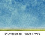 Rain Storm Background In Cloudy ...
