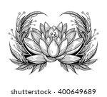 vector black and white tattoo... | Shutterstock .eps vector #400649689