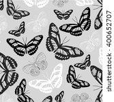 vector butterflies pattern.  | Shutterstock .eps vector #400652707