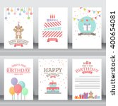 happy birthday  holiday ... | Shutterstock .eps vector #400654081