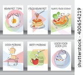 funny breakfast posters and... | Shutterstock .eps vector #400654219