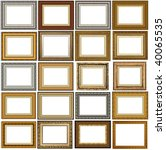 20 picture frames with a... | Shutterstock . vector #40065535