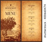 restaurant menu design. vector... | Shutterstock .eps vector #400660474